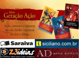 """A premiada série Geração Ação, de Maurício Zágari, traz importantes ensinamentos e debates bíblicos em histórias de ficção cheias de adrenalina. Os três livros da série foram finalistas do PRÊMIO ARETÉ e """"O Enigma da Bíblia de Gutemberg"""" foi eleito """"Melhor livro de ficção e romance"""" e deu a Maurício Zágari o prêmio de """"Autor Revelação do Ano"""". A série está disponível nas principais livrarias do país, como Saraiva, Siciliano, Nobel, Z3 Ideias e na loja virtual da editora Anno Domini."""