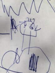 Papai desenhado por Laura aos 3 anos