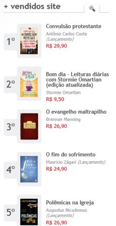 Mais vendidos da Mundo Cristão
